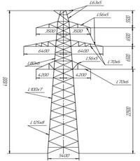Опора промежуточная ПС220-2т (вариант обозначения )