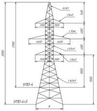 Опора анкерно-угловая У110-4, У110-4+5 (вариант обозначения )