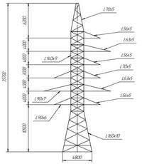 Опора анкерно-угловая УС110-8 (вариант обозначения )